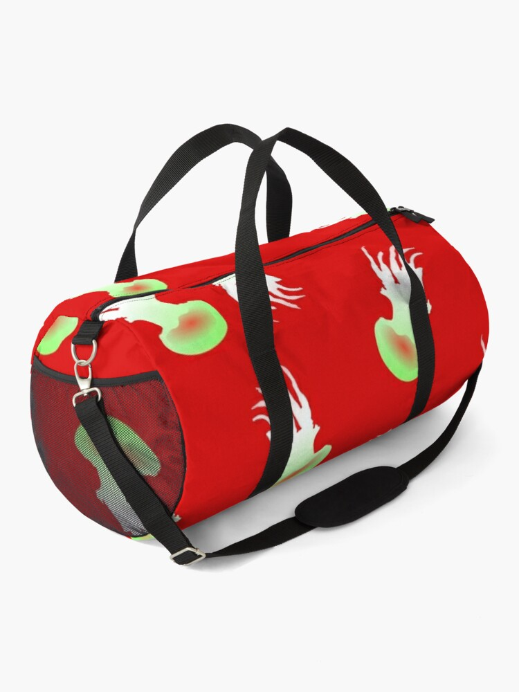 Alternate view of  Happy Jellyfish Pattern - (Red) Duffle Bag