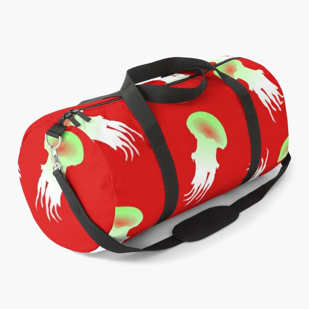 Happy Jellyfish Pattern - (Red) Duffle Bag