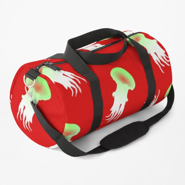 Happy Jellyfish Pattern - (Red) Duffle Bag