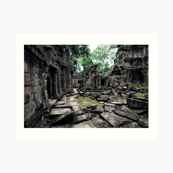 Library, Ta Prohm, Cambodia Art Print