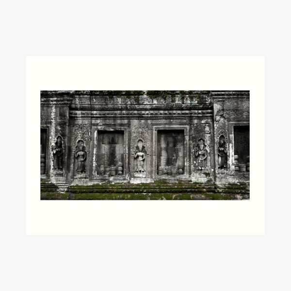 Climbing Moss, Cambodia Art Print