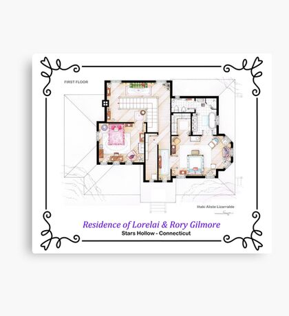 House of Lorelai & Rory Gilmore - First Floor Canvas Print