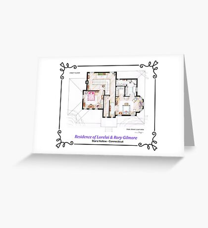 House of Lorelai & Rory Gilmore - First Floor Greeting Card