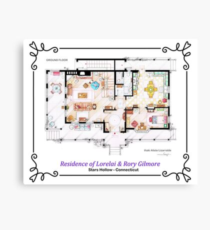House of Lorelai & Rory Gilmore - Ground Floor Canvas Print