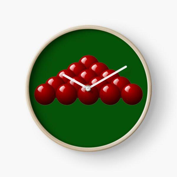 RED SNOOKER BALLS. Clock