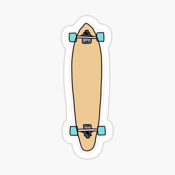 blue wheels longboard Sticker