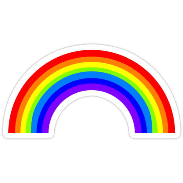"""""""90'S GRUNGE Hipster Rainbow Logo"""" Stickers by ..."""