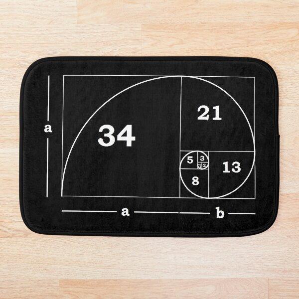 #Golden #Ratio #GoldenRatio #Design Ideas Fibonacci Spiral = 1.6180339887498948420 Bath Mat