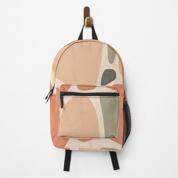 Terracotta Shapes #redbubble #abstractart Backpack
