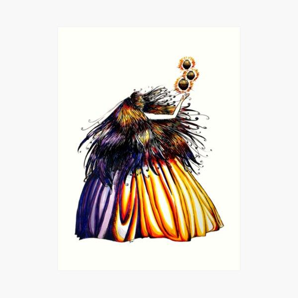 Lantern Princess Art Print