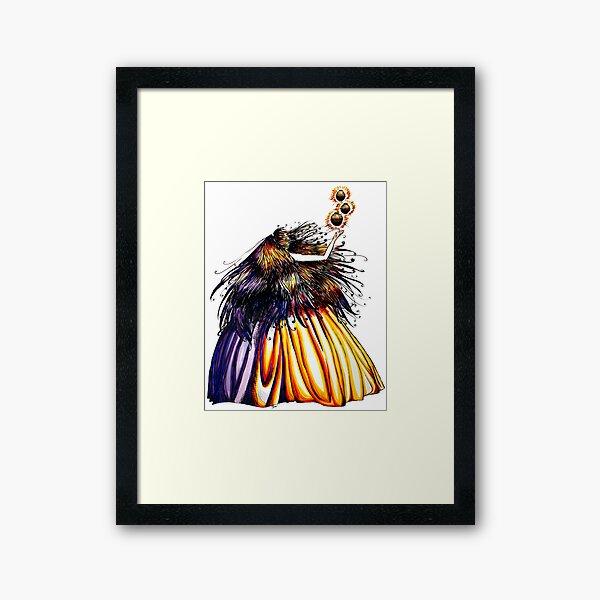 Lantern Princess Framed Art Print