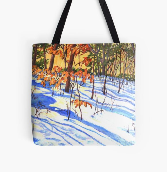 Winter shadows #5 All Over Print Tote Bag