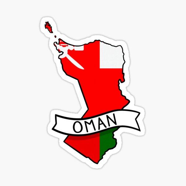 Oman Flag Map Sticker Sticker