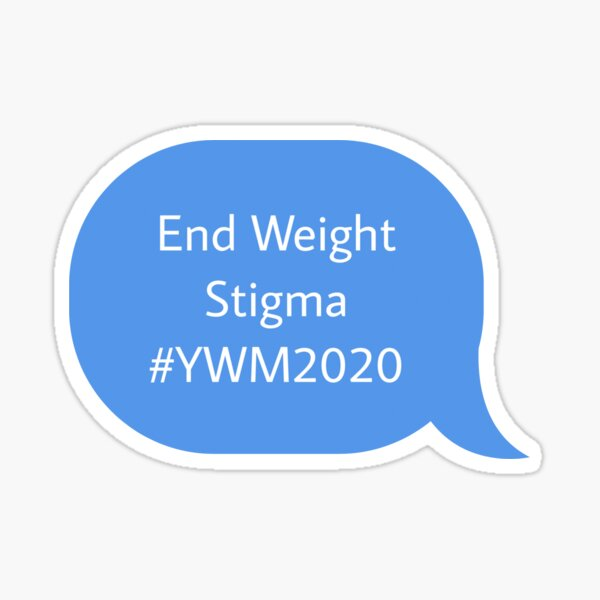 end weight stigma blue ywm2020 Sticker