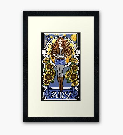 The Girl Who Waited (Amy under a Van Gogh sky) Framed Print