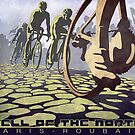 cycling illustration HELL OF THE NORTH retro Paris Roubaix  by SFDesignstudio
