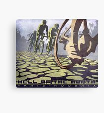cycling illustration HELL OF THE NORTH retro Paris Roubaix  Metal Print