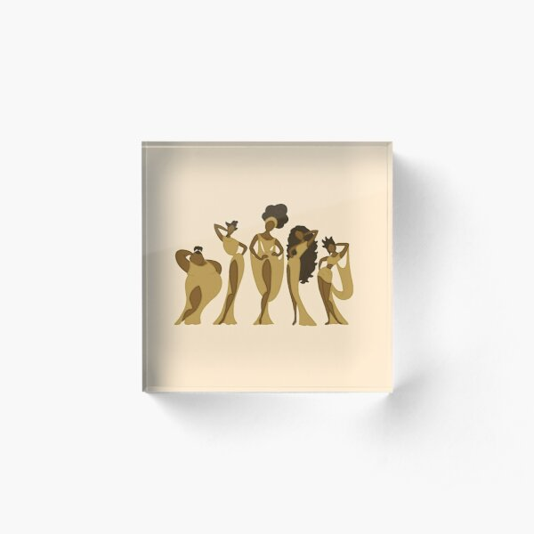 Greek Goddesses Acrylic Block