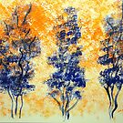Trees in Blue by Valerie Howell