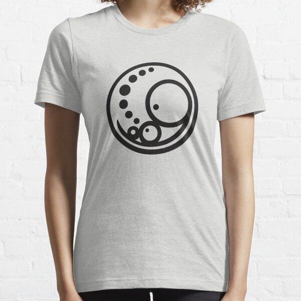 Pregnant Embryo Logo -  Large Black Essential T-Shirt