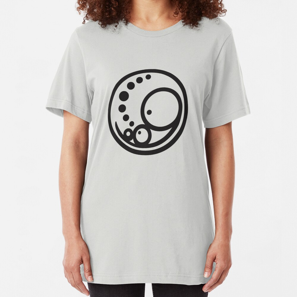 Pregnant Embryo Logo -  Large Black Slim Fit T-Shirt