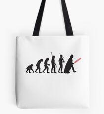 Human evolution Star wars Tote Bag