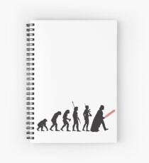 Human evolution Star wars Spiral Notebook