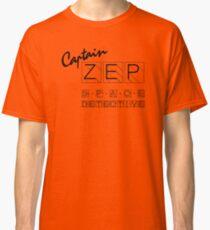 Captain Zep - Space Detective (black text) Classic T-Shirt