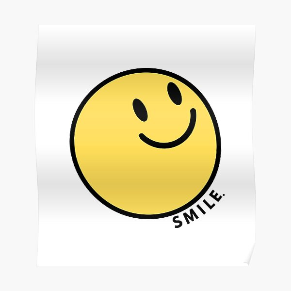 Happy Face | Smiley Face Poster