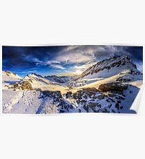 Beautiful sunset view of the Alps Mölltaler Gletscher Poster