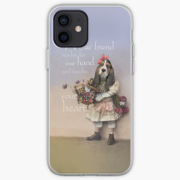 """""""A true friend reaches for your hand and touches your heart."""" iPhone Soft Case"""