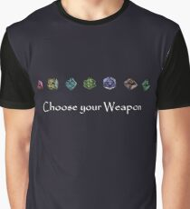 D&D dice Graphic T-Shirt