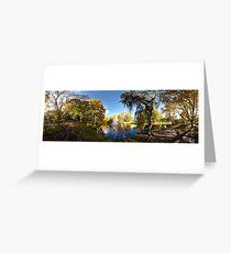 Nature fall a sleep in autumn. Riga  park panorama. Greeting Card