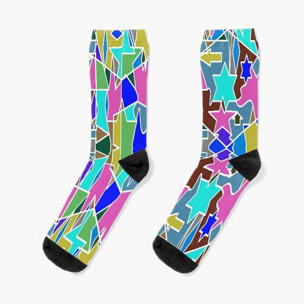 Motif, Visual arts - пестрый, motley, variegated, mottled, pied, checkered, patchwork, разноцветный Socks