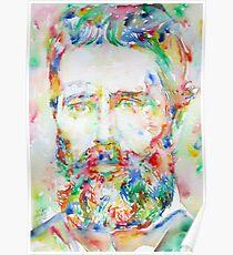 HERMAN MELVILLE watercolor portrait.1 Poster