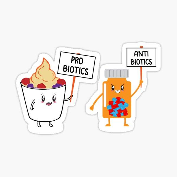 Probiotics Antibiotics Sticker