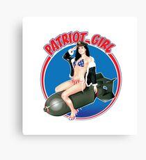 The Patriot Girl USA Canvas Print