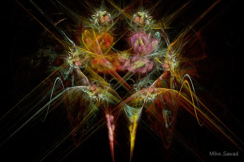 Fractal - Christ - Angels Embrace by Mike  Savad