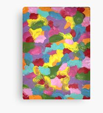 COLORFUL FRENZY ON CANVAS Canvas Print
