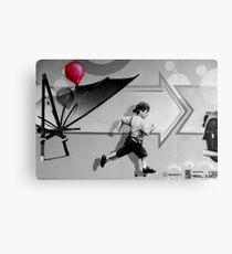 100th Red Balloon - Colour Splash Canvas Print