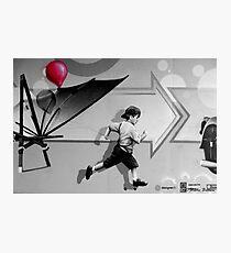 100th Red Balloon - Colour Splash Photographic Print