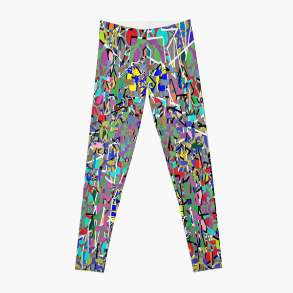 Visual arts - пестрый, motley, variegated, mottled, pied, checkered, patchwork, разноцветный Leggings