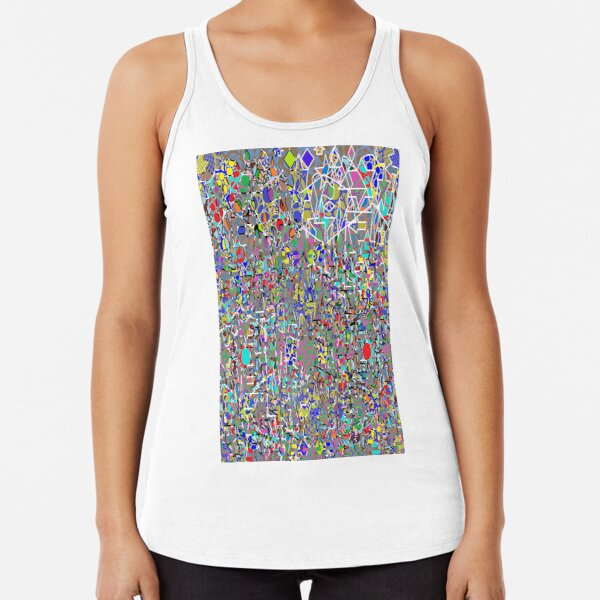 Visual arts - пестрый, motley, variegated, mottled, pied, checkered, patchwork, разноцветный Racerback Tank Top
