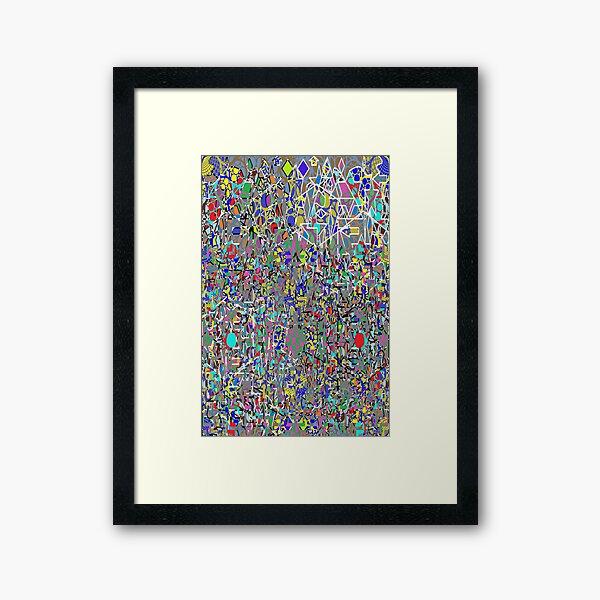 Visual arts - пестрый, motley, variegated, mottled, pied, checkered, patchwork, разноцветный Framed Art Print