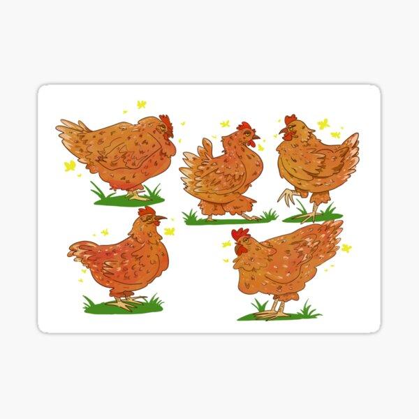 Hens  Sticker