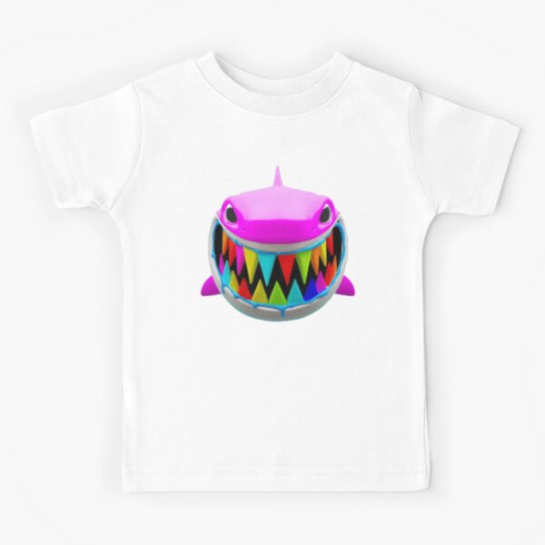 Rainbow Troll Shark (Blue) Kids T-Shirt