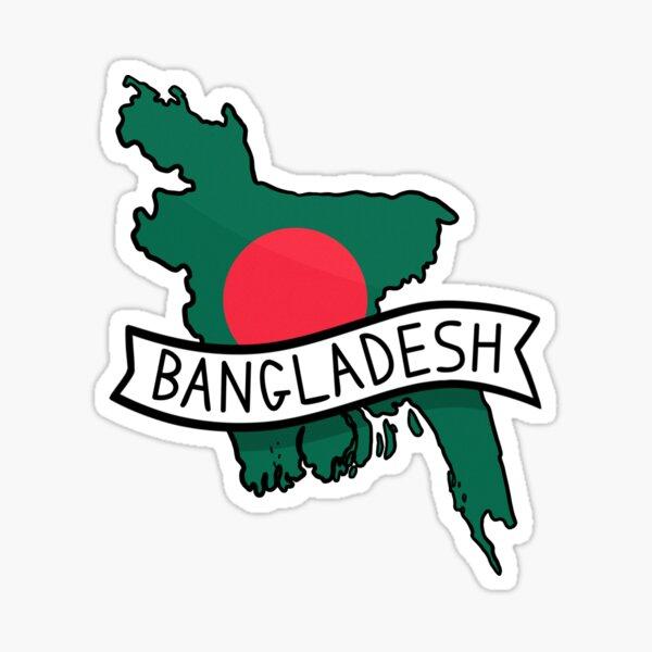Bangladesh Flag Map Sticker Sticker