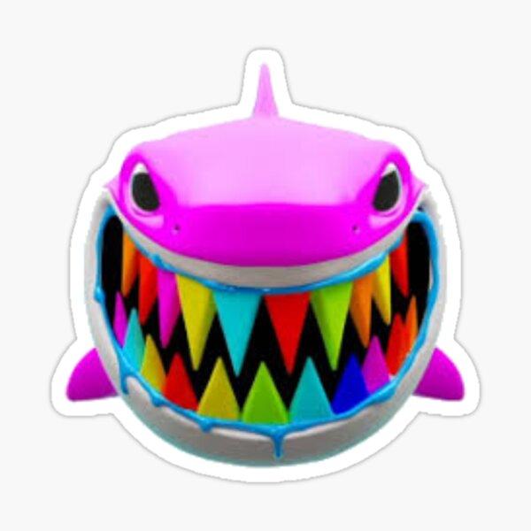 Rainbow Troll Shark (Bleu) Sticker