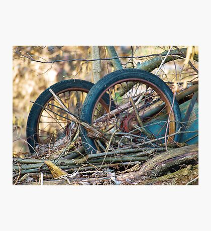Old Discarded cart VRS2 Photographic Print