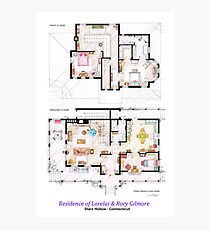 House of Lorelai & Rory Gilmore - Both Floorplans Photographic Print